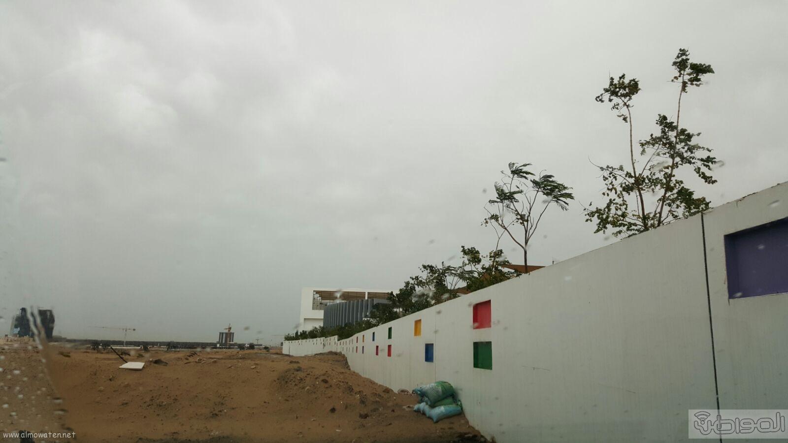 شاهد بالصور..  المواطن ترصد أمطار دبي (5)