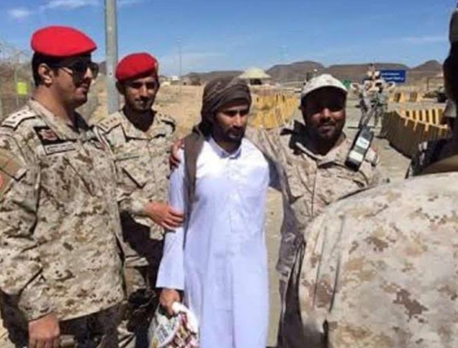 شاهد.. أول صورة للعريف الكعبي عقب استعادته من الحوثيين