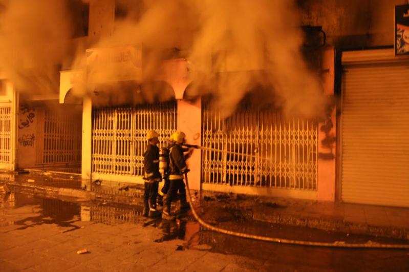 حريق عمارة سكنية الطائف