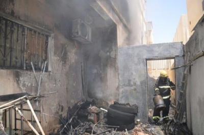 شبهة جنائية تحيل حريق بمنزل في #سكاكا1