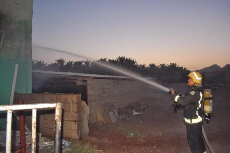 شبهة جنائية وراء حريق تموينات على طريق حائل (1) 