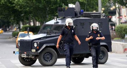 شرطة بمدينة ماردين التركية