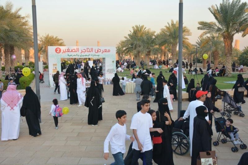 شهد معرض التاجر الصغير حضورا من قبل زوار حي البجيري بالدرعية.