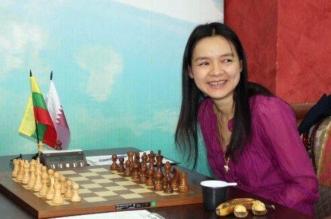 آل الشيخ يرحب باللاعبة القطرية في بطولة الشطرنج - المواطن