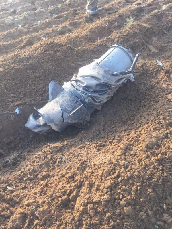 صاروخ الحوثي بعد اعتراضه بجازان1