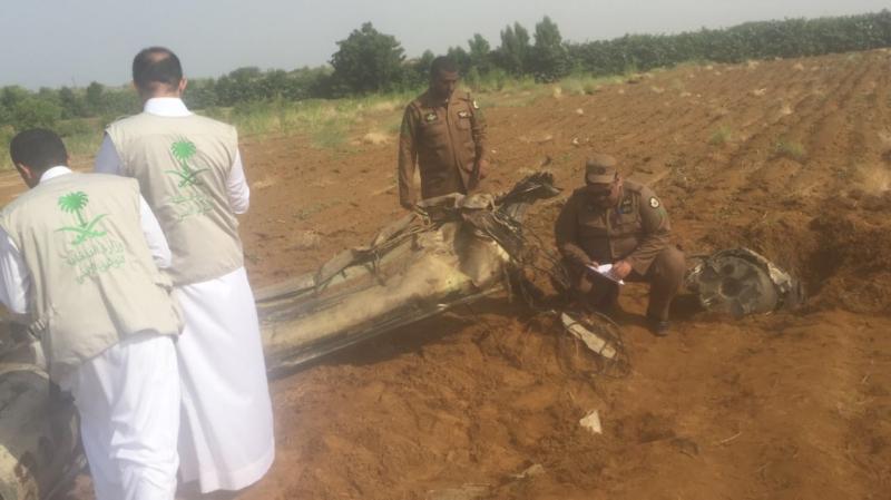 صاروخ الحوثي بعد اعتراضه بجازان4