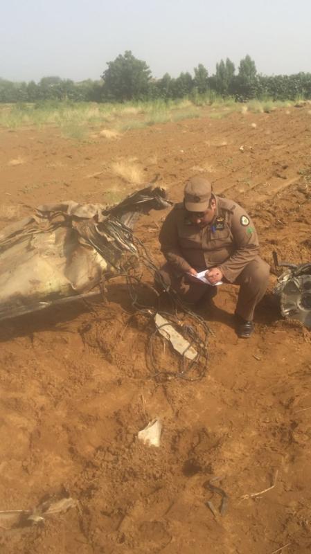 صاروخ الحوثي بعد اعتراضه بجازان5