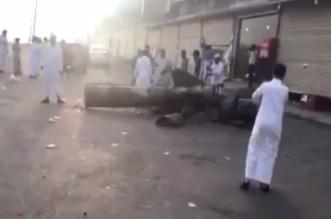 بالفيديو.. حطام الصاروخ الذي أسقطه التحالف فوق أبها ودمر منصة إطلاقه - المواطن