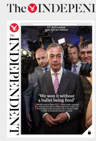 صحف بريطانية بعد نتيجة الاستفتاء (824587133) 