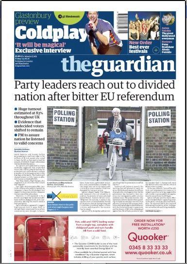 صحف بريطانية بعد نتيجة الاستفتاء (824587134) 