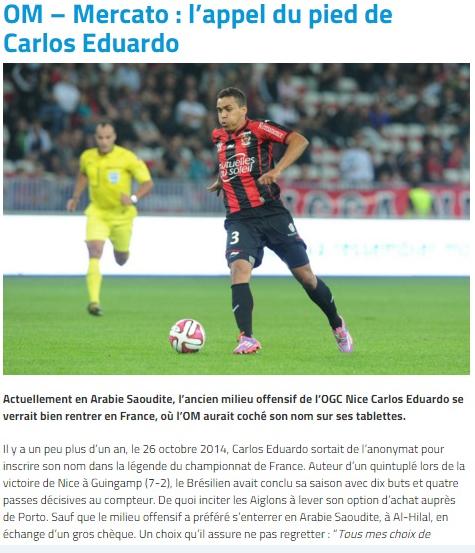 صحيفة فرنسية: إدواردو دفن نفسه في الهلال !