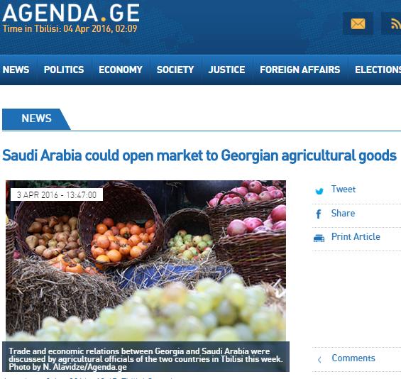 صحيفة  agendaالجورجية