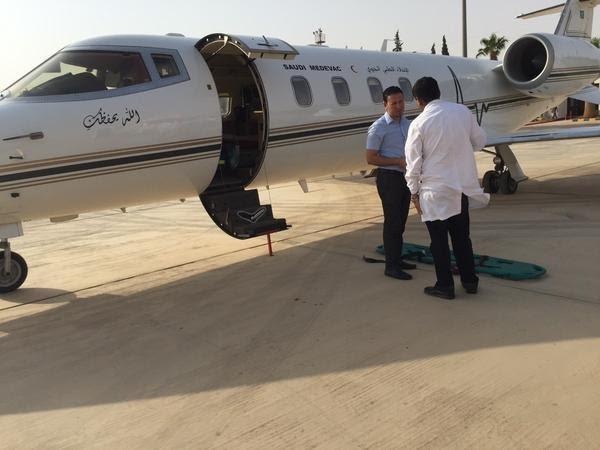 صورة الإخلاء الطبي للمريض عبدالعزيز الغلول