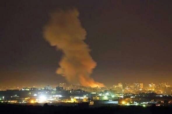 صورة حديثة للقصف على مقر الحوثيين وسط صنعاء