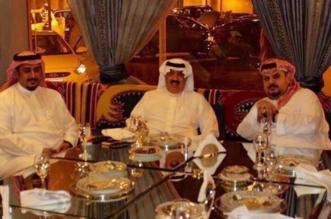 صورة متعب بن عبدالله مع عبدالرحمن بن مساعد