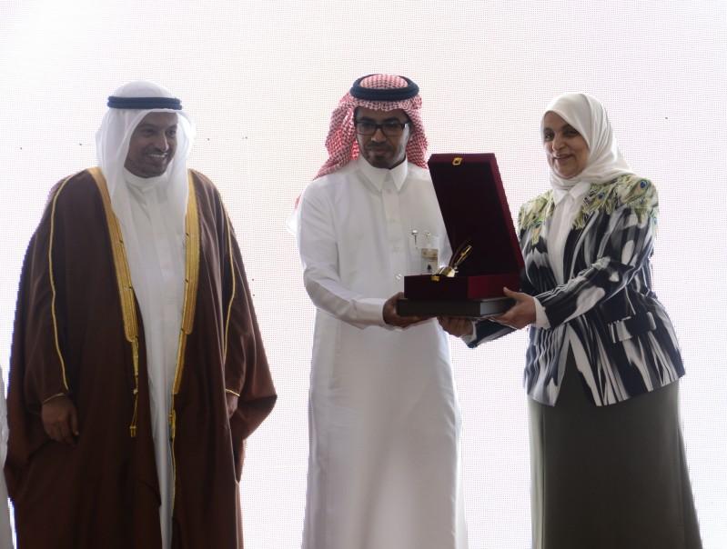 صورة من تكريم شركة علم في مجلس وزراء العمل الخليجي بالدوحة
