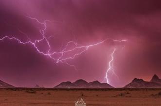 صور مذهلة لبرق الرياض
