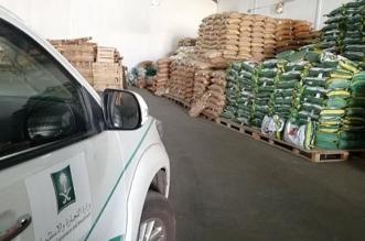 ضبط 360 طنا من الأرز المغشوش في مستودع مخالف بخميس مشيط