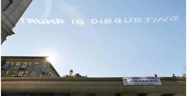 طائرات في سماء كاليفورنيا