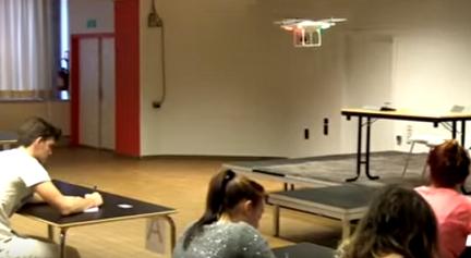 طائرة بدون طيار لمراقبة الامتحانات في بجليكا