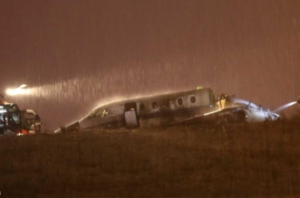 إعادة فتح مطار أتاتورك بعد تحطم طائرة واشتعالها - المواطن
