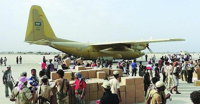 طائرتين اغاثيتين لليمنيين في جيبوتي.jpg0