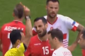 """شاهد بالفيديو.. قائد ألبانيا يُسجل أول حالة طرد في """"يورو 2016"""" - المواطن"""