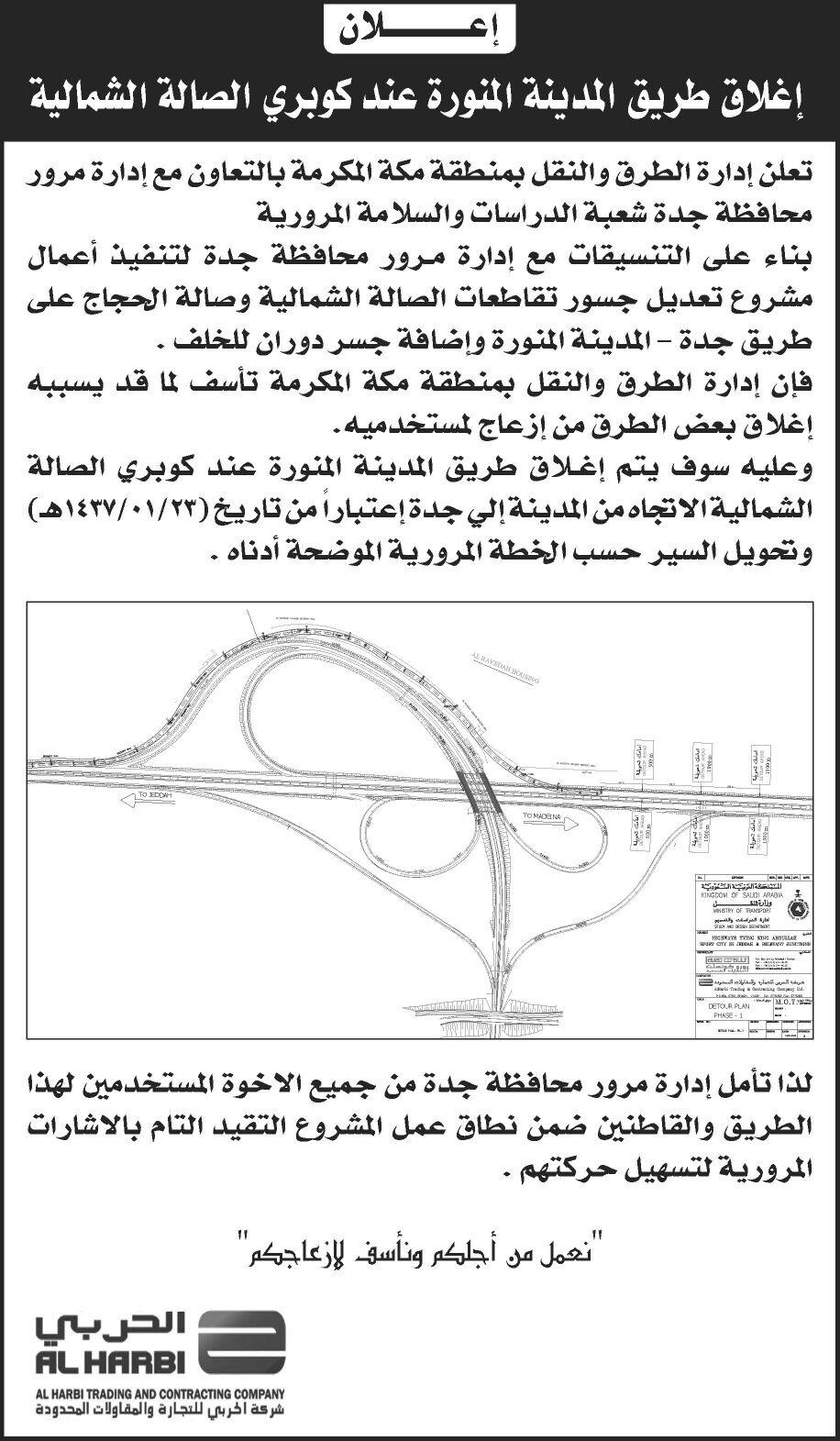 طريق المدينة المنورة بجوار كوبري الصالة الشمالية (2)