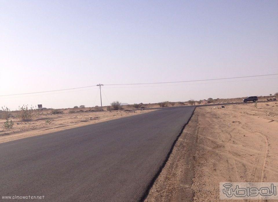 طريق زبيده ووادي مرفوع بالطائف عيوب هندسية (4)