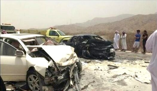 طريق نمرة يقتل رئيس تحفيظ القرآن وزوجته وطفلته