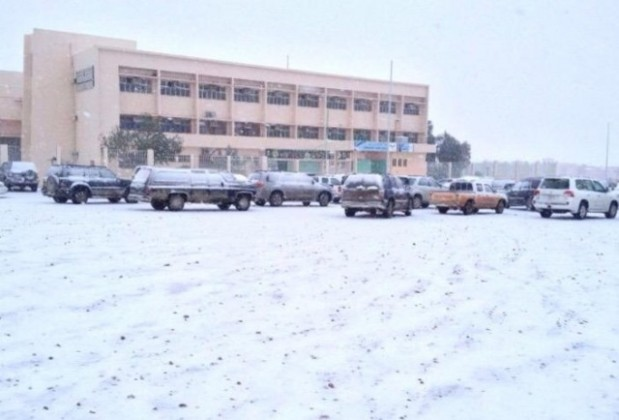 طلاب طريف وسط الثلوج (3)