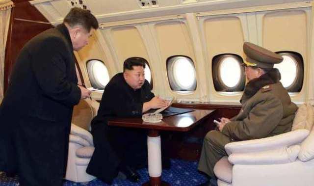 بالصور .. الطائرة الخاصة لزعيم كوريا الشمالية