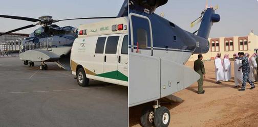 طيران الأمن ينفذ مهمة إخلاء طبي لطفل من الزلفي إلى الرياض