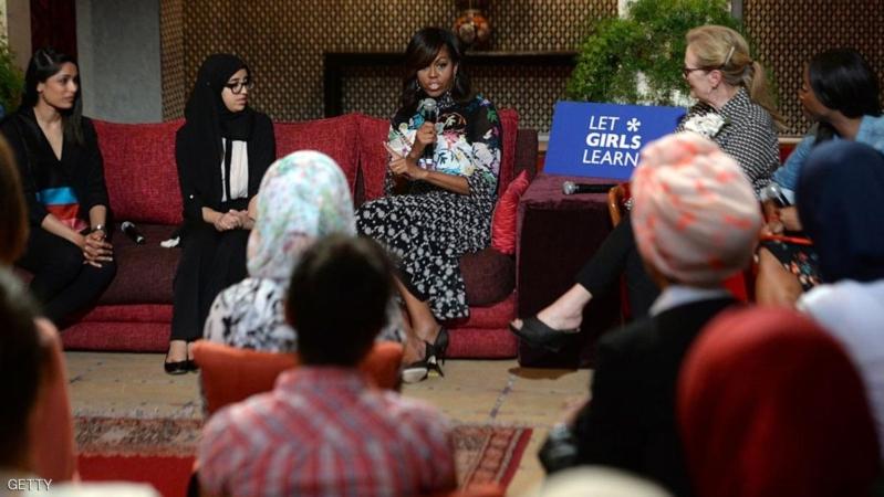 عائلة أوباما في المغرب لتشجيع تعليم الفتيات