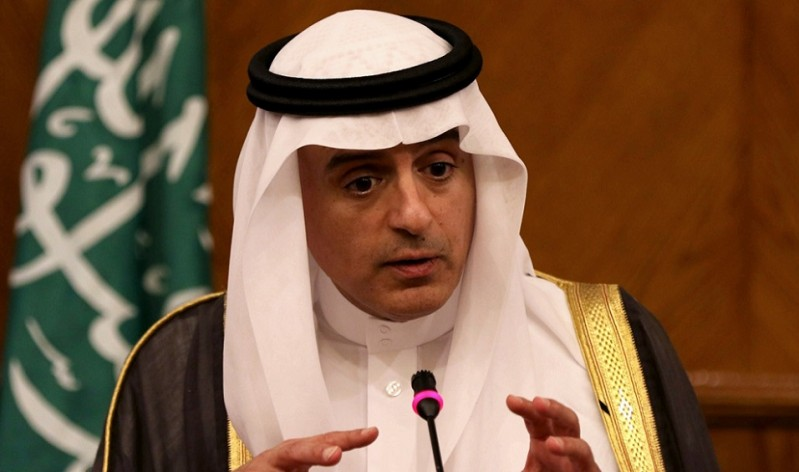 Saudi Foreign Minister Adel al-Jubeir speaks during a press conference with his Jordanian counterpart Nasser Judeh in the capital Amman on July 9, 2015. AFP PHOTO / KHALIL MAZRAAWI        (Photo credit should read KHALIL MAZRAAWI/AFP/Getty Images)