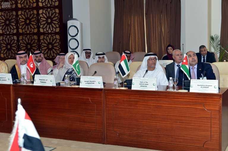 عادل الطريفي خلال ترؤسه الاجتماع الثالث للمجلس التنفيذي لإتحاد الإذاعات الإسلامية 2
