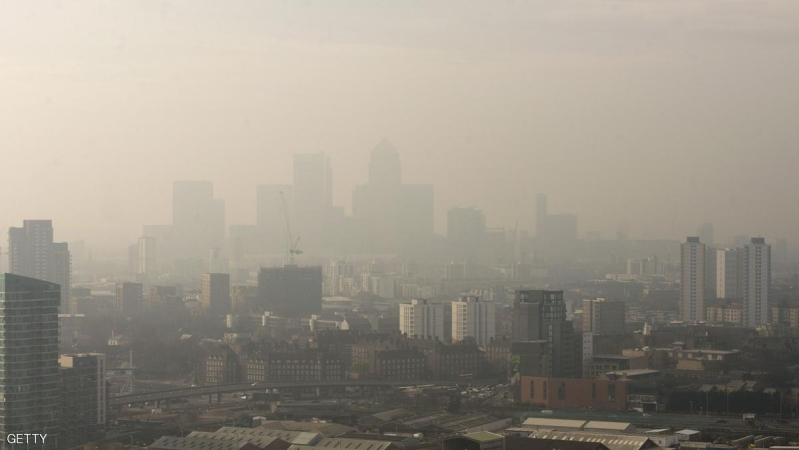 Mandatory Credit: Photo by Geoff Pugh/REX Shutterstock (3686027a) The view of the City of London through the smog from the ArcelorMittal Orbit in the Olympic Park Pollution in London, Britain - 02 Apr 2014