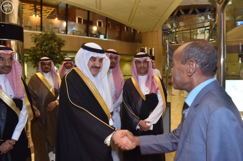 عبدالرحمن بن علي الربيعان يستقبل وزير الداخلية الجيبوتي حسن عمر محمد