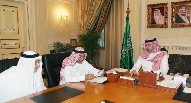 عبدالله بن مساعد يلتقي أحمد مسعود (1) 