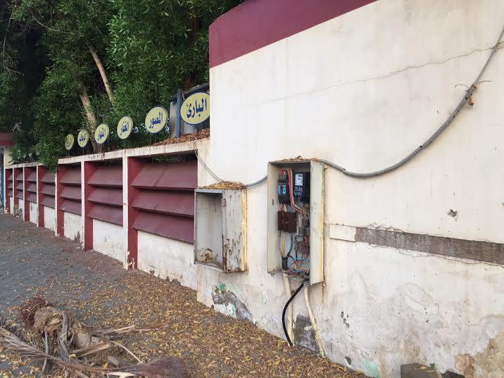 عداد كهرباء مكشوف في حي الحمراء 2