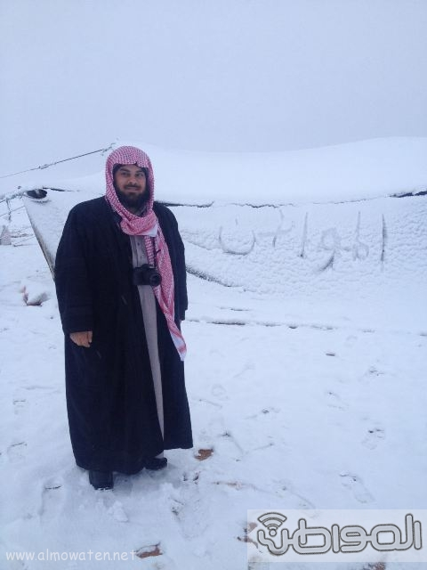 عدسة المواطن ترصد اكتساء #رفحاء بالبياض.. اليوم (30)