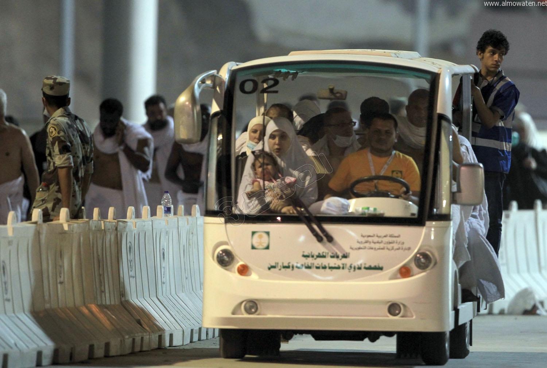 شاهد.. 234 عربة كهربائية لنقل المرضى وكبار السن في الحج - المواطن