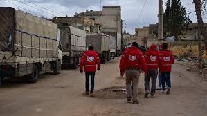 دخول قافلة مساعدات إلى الغوطة الشرقية - المواطن