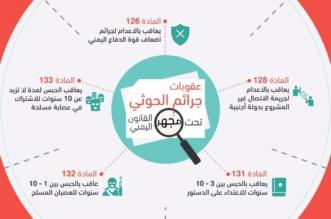عقوبات جرائم الحوثي