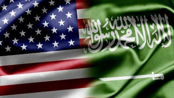 علم السعودية و امريكا