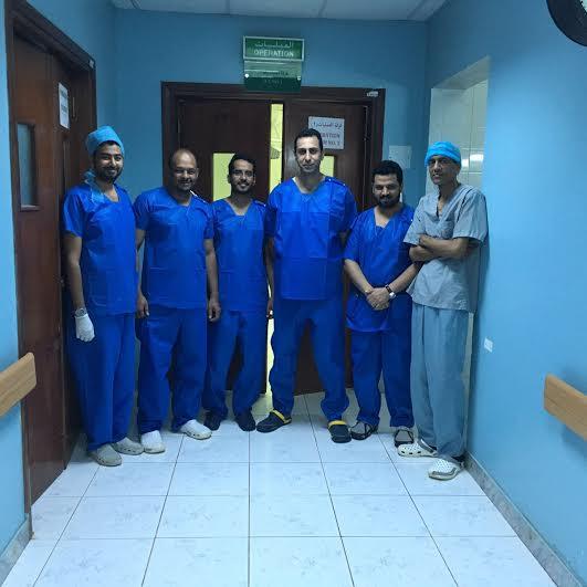عملية جراحية ليمني في أحد المسارحة