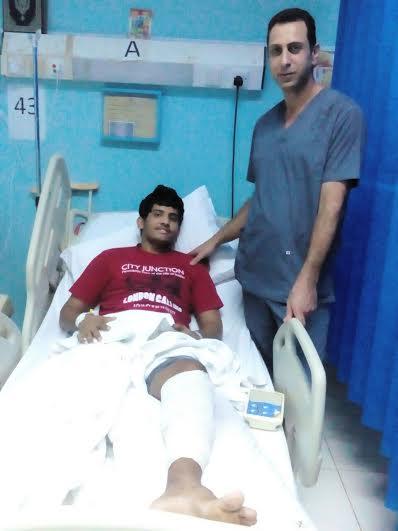 عملية جراحية ليمني في مستشفى احد المسارحة