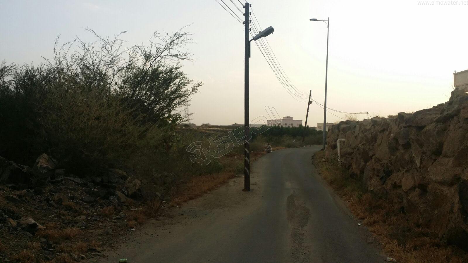 عمودين-كهرباء-يقتصان-شارع-بالمجاردة (1)
