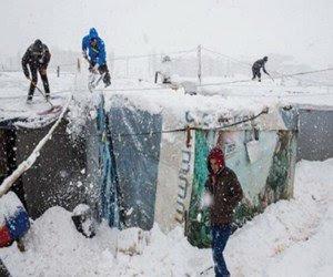 عواصف-ثلجية-بخيم-اللاجئين-بلبنان