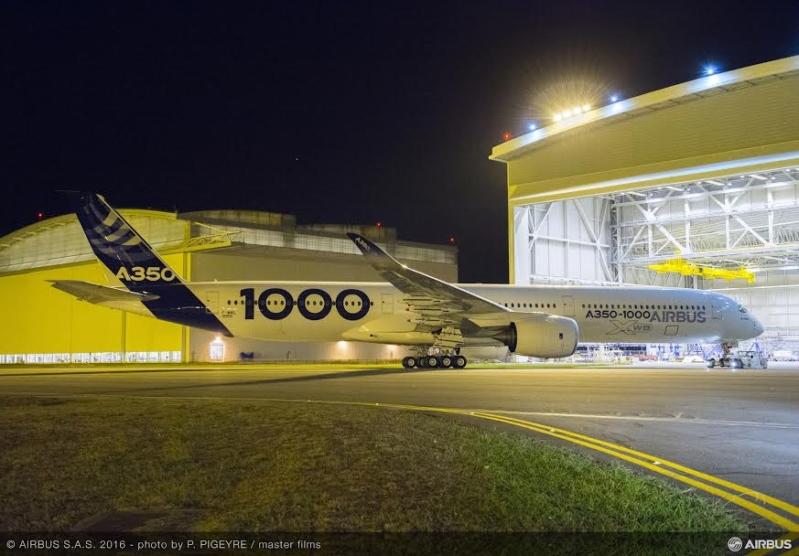 غدا الرحلة الأولى لأكبر طائرة إيرباص من عائلة A350